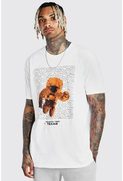 White Oversized Astronaut Print T-Shirt