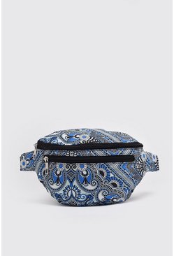 Blue Bandana Paisley Print Fanny Pack