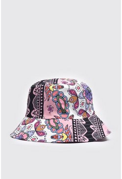 Pale pink Baroque Print Bucket Hat