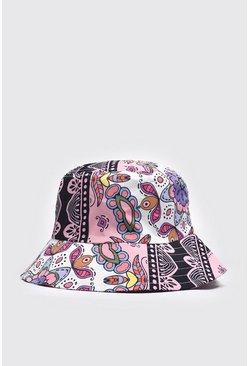 Pale pink Baroque Print Bucket Hat