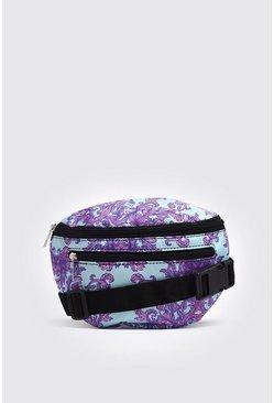 Purple Floral Print Fanny Pack
