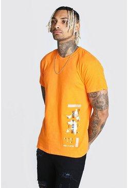 Orange Map Print T-Shirt