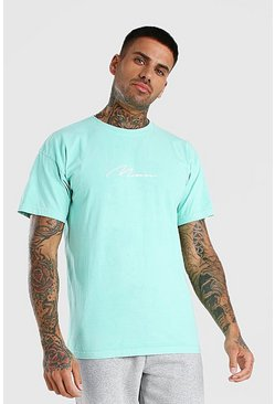 Mint Oversized MAN Signature Overdyed T-Shirt