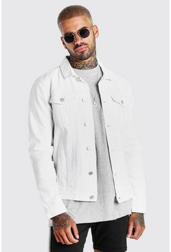 White Regular Denim Western Jacket