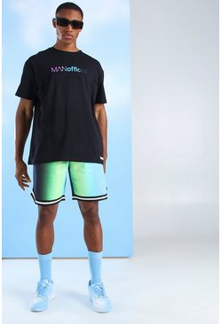 Green MAN Official Gradient Print Tape Short Set