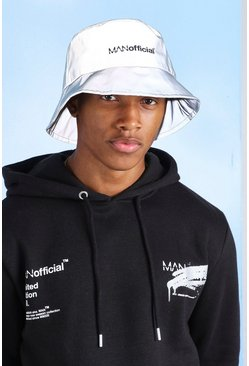 Silver MAN Official Reflective Bucket Hat