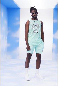 Mint Man Official Basketball Tank Top & Short Set