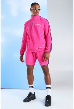 Pink Man Official Velour Track Top & Short