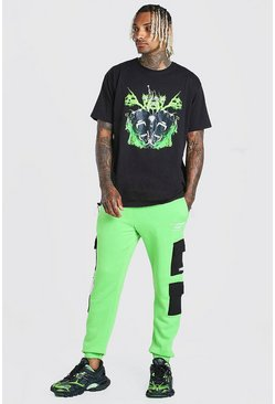 Green MAN Official Graphic T-shirt & Cargo Jogger