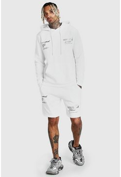 White Man Official Graffiti Print Short Tracksuit