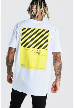 Oversized Hacienda License Print T-Shirt , White