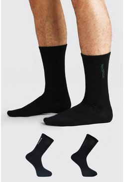 Black 2 Pack MAN Official Sock