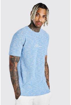 Aqua MAN Signature Embroidered Pique T-Shirt