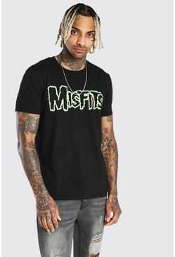 Black Oversized Misfits License T-Shirt