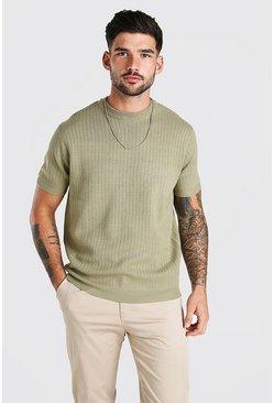 Sage Short Sleeve Textured Knit T-Shirt