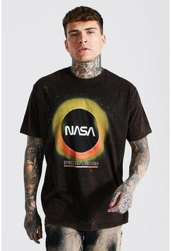 Vintage wash Oversized Nasa Eclipse Aw License T-shirt