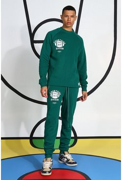 Green Tall Tracksuit With Extended Neck