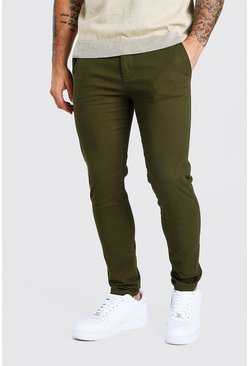 Khaki Super Skinny Chino Pants