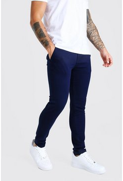 Navy Super Skinny Chino Pants