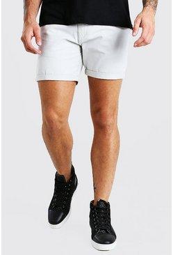 Grey Slim Fit Chino Short