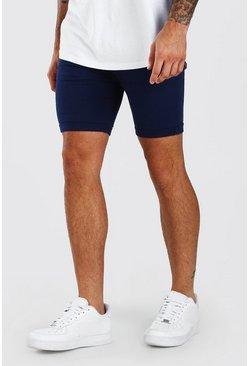Navy Super Skinny Fit Chino Short
