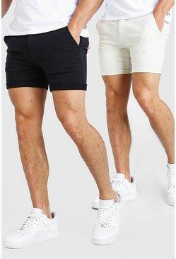 Multi 2 Pack Skinny Fit Chino Short