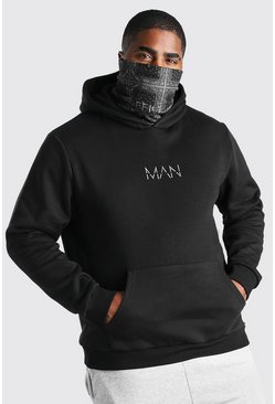 Black Big And Tall Bandana Snood MAN Official Hoodie