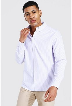 Lilac Oxford Stripe Ls Regular Shirt