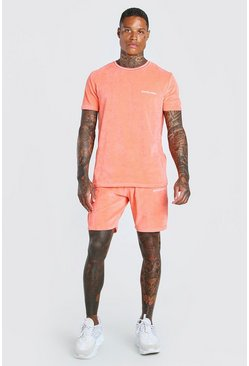 Coral Official MAN Velour T-Shirt & Short Set