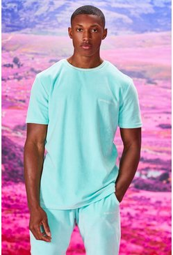 Ensemble t-shirt et short en velours MAN Official, Menthe