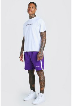Ensemble t-shirt et short coupe oversize MAN Official, Violet