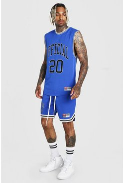 Ensemble débardeur et short de basketball Airtex MAN, Bleu