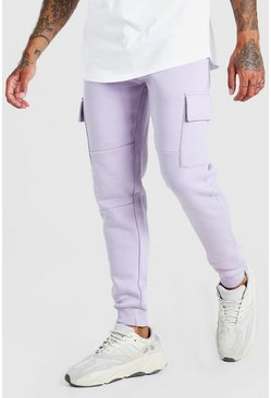 Lilac Skinny Fit Panelled Cargo Jogger