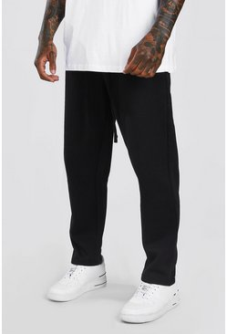 Black Skinny Fit Jogger With MAN Official Rubber Branding