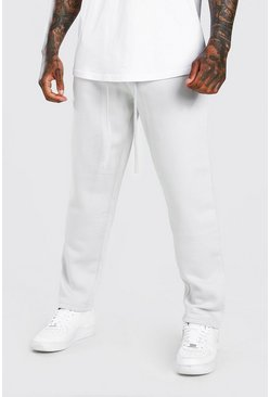 Grey Skinny Fit Jogger With MAN Official Rubber Branding