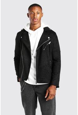 Black Suedette Moto Jacket