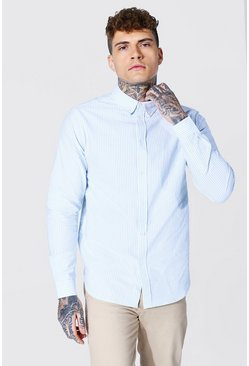 Blue Oxford Stripe Ls Regular Shirt