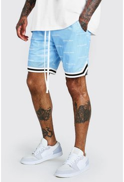 Blue MAN Official All Over Print Airtex Shorts