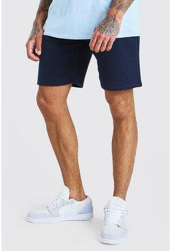 Navy Plain Lounge Shorts