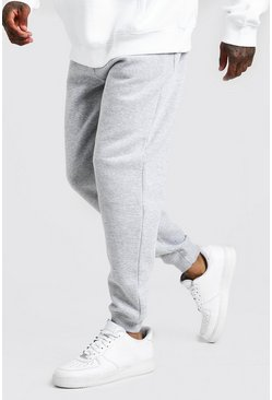 Basic Loose Fit Jogginghosen, Grau