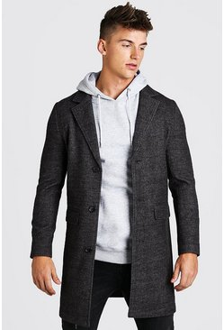 MANTEAU CHIC EXTENSIBLE TEXTURÉ, Anthracite :