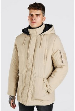 Stone 4 Pocket Hooded Parka