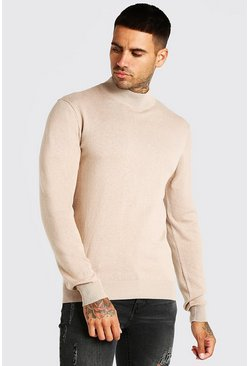 Taupe Turtle Neck Jumper