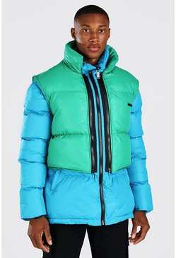 Blue 2 In 1 Puffer (With Removable Vest)