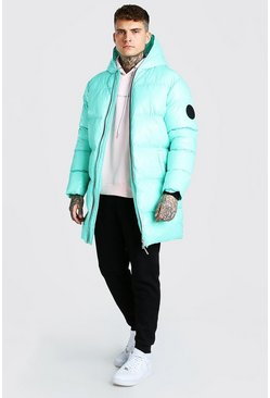 Mint High Shine Longline Puffer