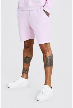 Pink Jersey Short With Embroidery