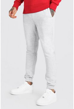 Grey Skinny Fit Jogger With Badge