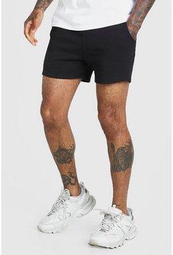 Black Basic Short length jersey short