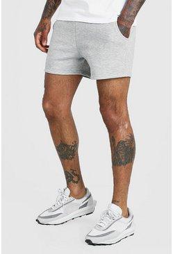 Grey marl Basic Short length jersey short