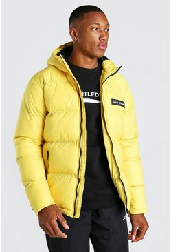 Mustard MAN Branded Hand Filled Puffer